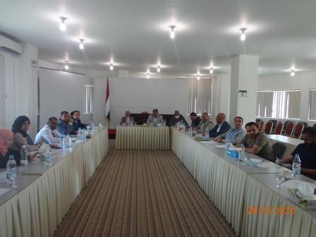 لقاء تشاوري بين مختصين في البنوك العاملة في اليمن ومختصين في صندوق تنمية المهارات